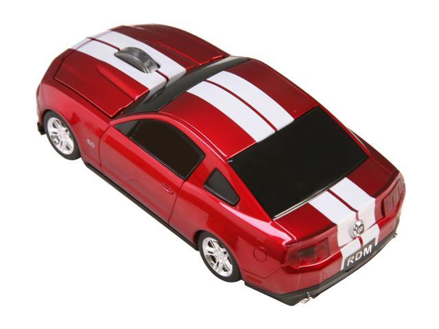 Road Mice Ford Mustang HP-11FDMGRXW Red/White 1 x Wheel USB RF Wireless Optical 800 dpi Mouse