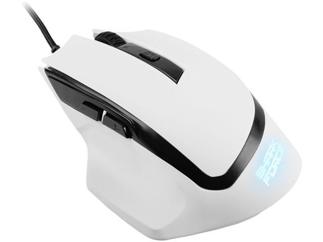 SHARKOON SHARK Force 000SKSFB White 6 1 x Wheel USB Wired Optical 1600 dpi Gaming Mouse