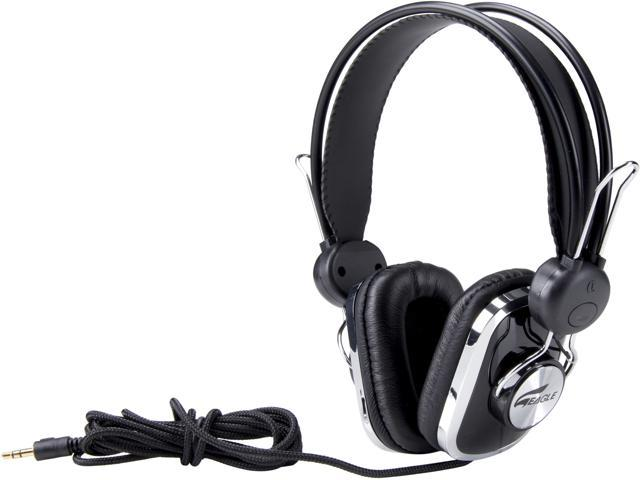 EAGLE TECH Arion Black ET-ARHP100-BK 3.5mm Connector Stereo Headphones for Computers/Smartphones/Tablets/MP3 Players