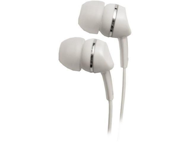 Empire Brands Metallics - White Canal Headphone