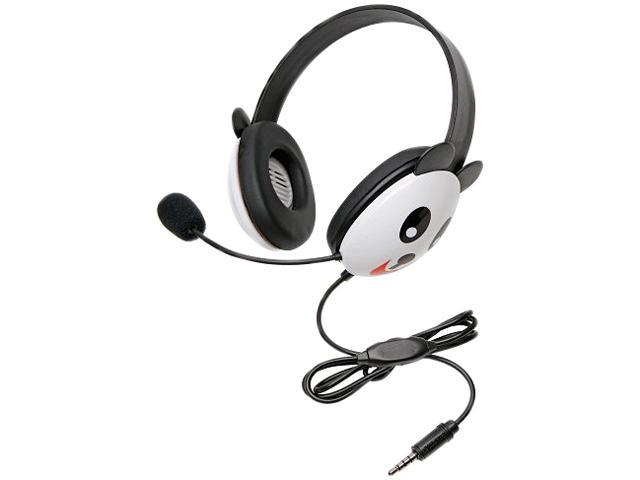 Califone Listening First 2810-TPA 3.5mm Connector Circumaural Stereo Headset Panda with Microphone