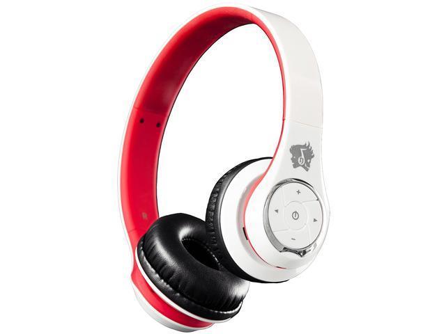 Life n Soul BN301-WR Bluetooth Headphones White & Red