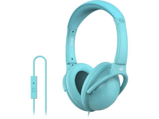 MQbix Blue MQHT560BLU-L Circumaural EarFoam Palette High Performance Headphones with Mic