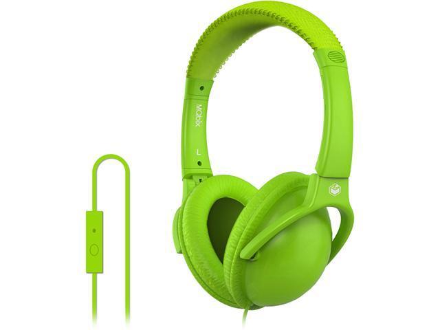 MQbix Green MQHT560GRN-L Circumaural EarFoam Palette High Performance Headphones with Mic