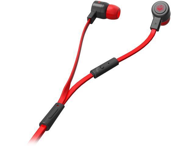MQbix Black MQGT26BLK-L 3.5mm Connector Talking AeroFones Flat Cable Earphones with Mic