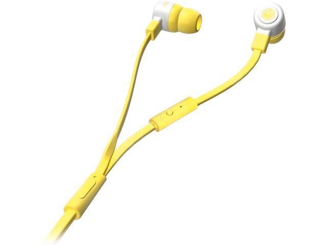 MQbix Yellow MQGT26YEL-L 3.5mm Connector Talking AeroFones Flat Cable Earphones with Mic