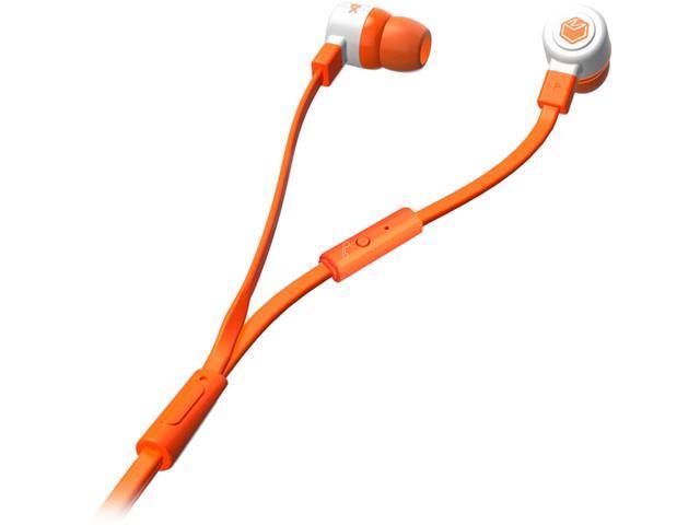 MQbix Orange MQGT26ORG-L 3.5mm Connector Talking AeroFones Flat Cable Earphones with Mic