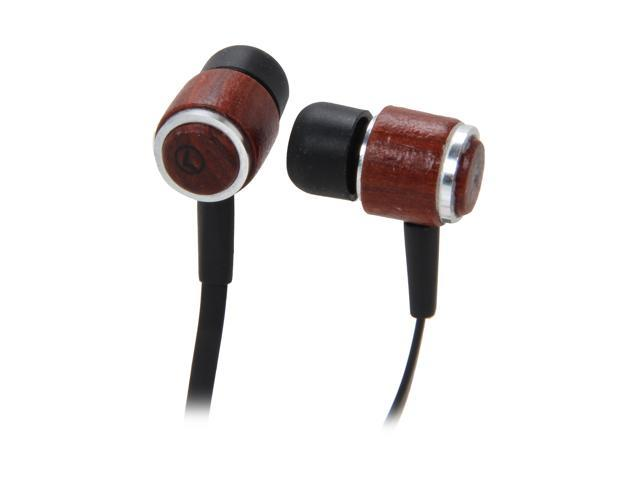 QFX Wood H-101 3.5mm Connector Wood Stereo Earbuds