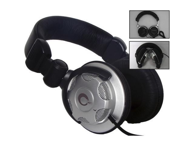 QFX Black H 203 DJ Style Stereo Headphones