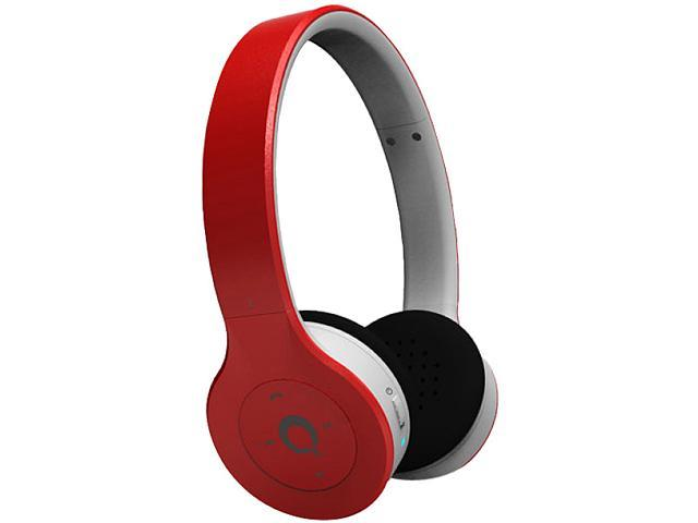 QFX Red H250BTRED 3.5mm Connector Supra-aural Bluetooth Stereo Headphones With Microphone