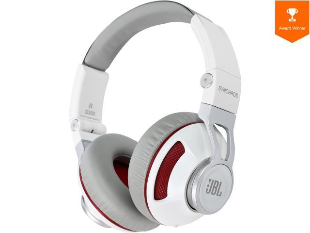 c4d1fd04294 JBL Synchros S300 Premium On-Ear Headphones for iOS with built-in  remote/Microphone - White/Red - Newegg.com