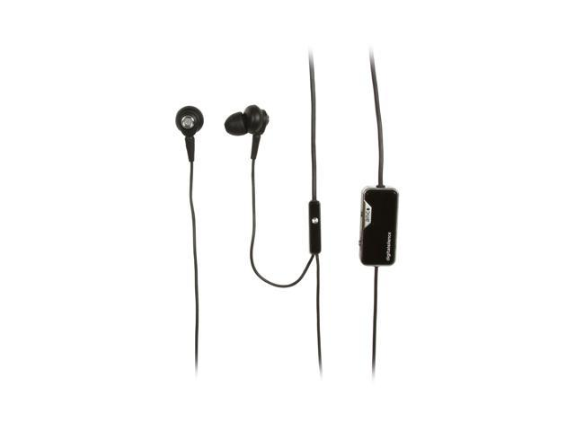 Digital Silence Black Stereo Digital Ambient Noise Cancelling Earphone with Microphone DS-321D