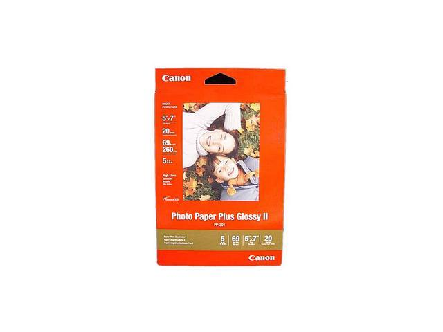 Canon PHOTO PAPER PLUS GLOSSY II (2311B024), Photo Paper - 5 in x 7 in - 20 Sheets