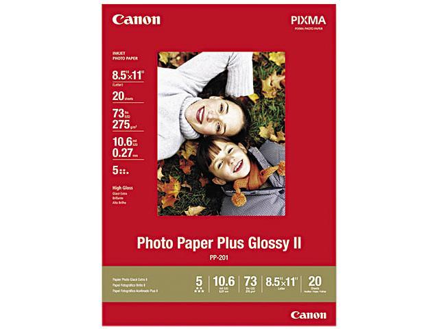 Canon Photo Paper Plus Glossy II (2311B001), 8-1/2 x 11, 10.6 mil, White, 20 Sheets/Pack