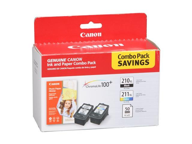 Canon PG-210/CLI-211 Value Pack with 50 sheet 4