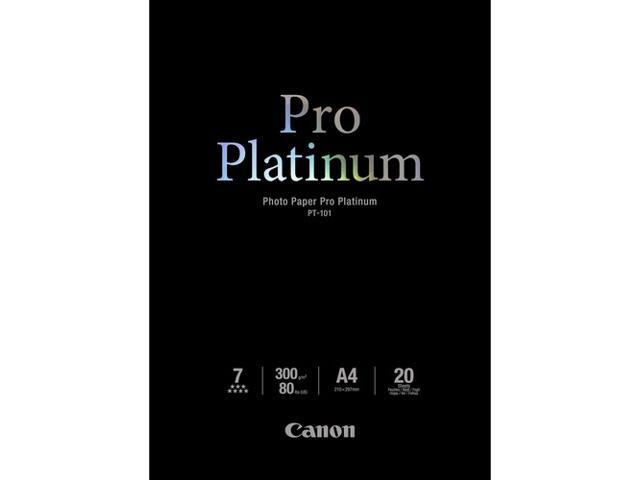 Canon USA 2768B022 Photo Paper Pro Platinum, 80 lbs., Glossy, 8 1/2 x 11, 20 Sheets/Pack