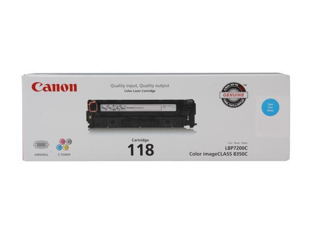 Canon Cartridge 118 (2661B001AA) Toner Cartridge Cyan