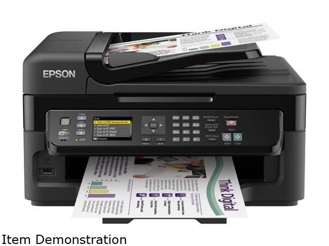EPSON WorkForce WF-2540 5760 x 1440 dpi Color Print Quality Wireless 4-color (CMYK) drop-on-demand MicroPiezo inkjet technology Color All-in-One ...