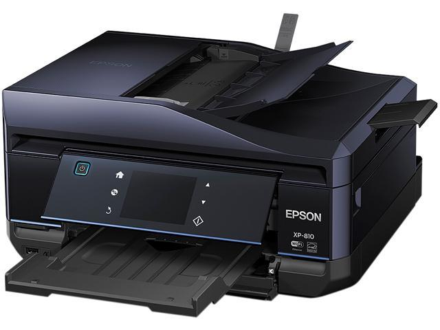 EPSON Expression Premium XP-810 Up to 14 ppm Black Print Speed 5760 x 1440 optimized dpi Color Print Quality InkJet Small-in-One Color Printer