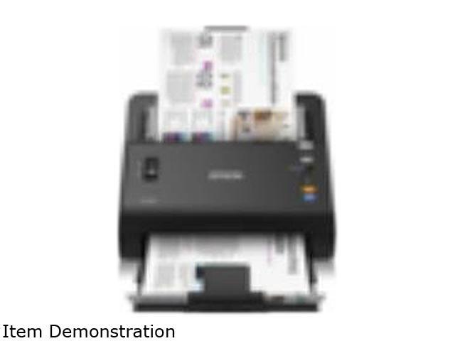 Epson WorkForce DS-860 Color Document Scanner, 65ppm/130 ipm scan speeds, scan both sides in just one pass. 80 page Automatic Document Feeder, ...