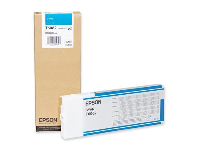 EPSON T606200 220 ml UltraChrome Ink Cartridge Cyan