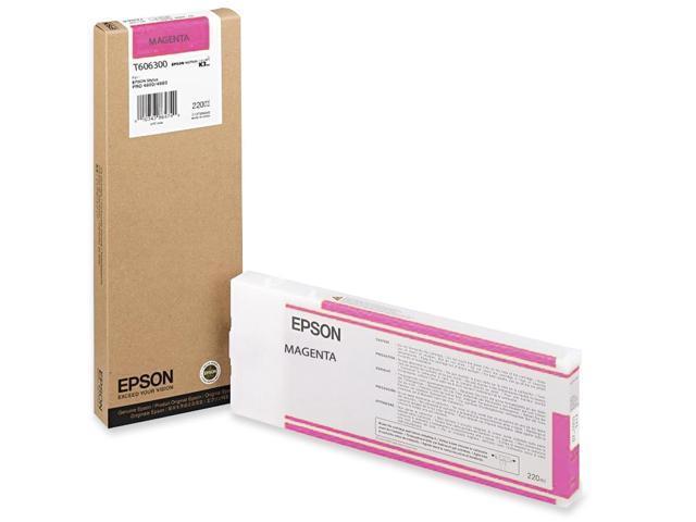 EPSON T606300 220 ml UltraChrome Ink Cartridge Vivid Magenta