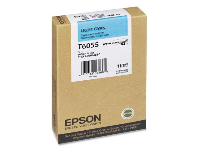 EPSON T605500 110 ml UltraChrome Ink Cartridge Light Cyan