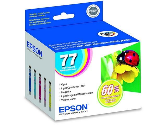 EPSON T077920 Muti-pack High Ink Cartridges for RX580, RX595, RX680 Color