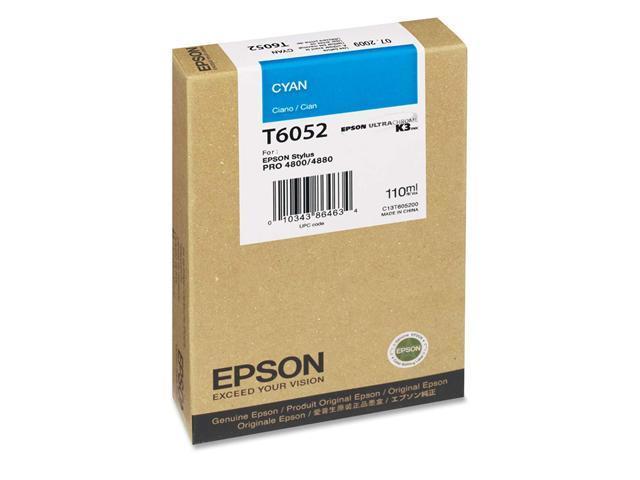EPSON T605200 110 ml UltraChrome K3 Ink Cartridge Cyan