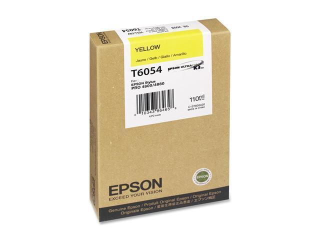 EPSON T605400 110 ml UltraChrome Ink Cartridge Yellow