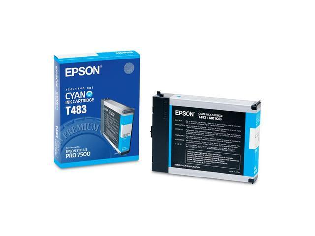 Epson T483011 Cyan Ink Cartridges for Epson Stylus Pro 7500 Printer