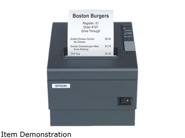 EPSON TM-T88IV C31C636353 Direct Thermal 200 mm / sec Compact Thermal Receipt Printer with Two-Color Capability