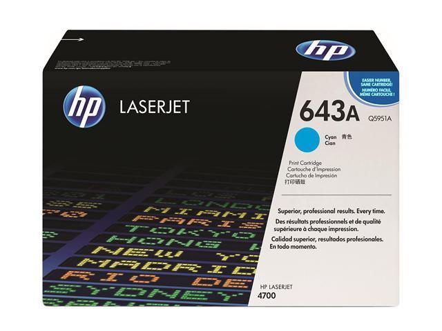HP 643A Cyan LaserJet Toner Cartridge (Q5951A)