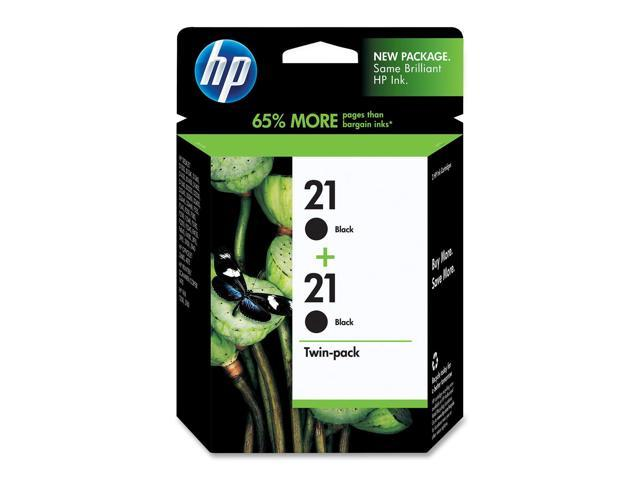 HP C9508FN#140 21 Black Ink Cartridge Twin Pack Black