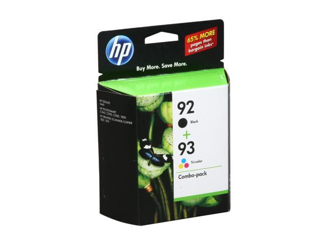 HP 92/93 Black/Tri-color Inkjet Print Cartridges Combo Pack (C9513FN#140)
