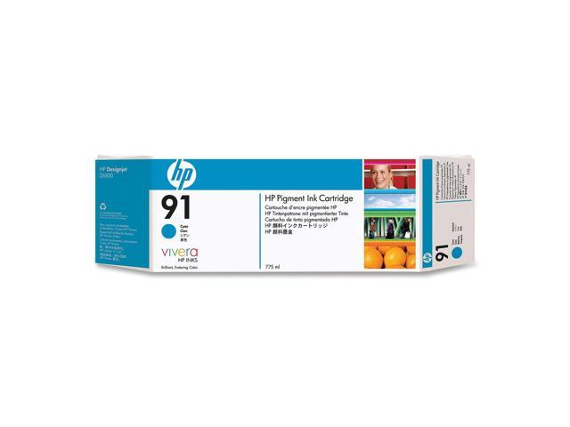 HP 91 Pigment Ink Cartridge For HP Designjet Z6100 Printer series, Cyan (C9467A)
