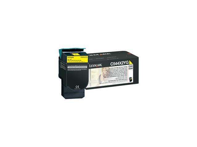 LEXMARK C544X2YG C544, X544 Extra High Yield Toner Cartridge Yellow