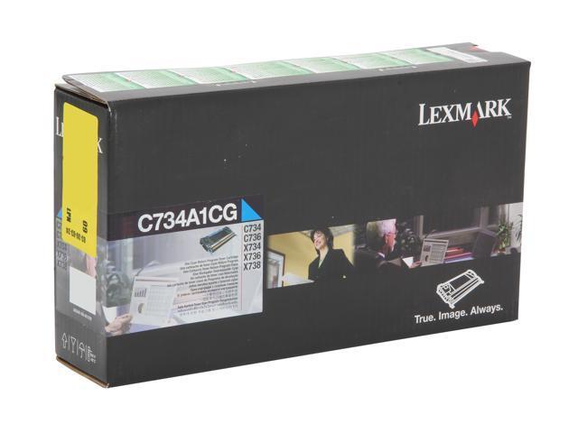 Lexmark C734A1YG C73x Print Cartridge 6,000; Yellow (Return Program)