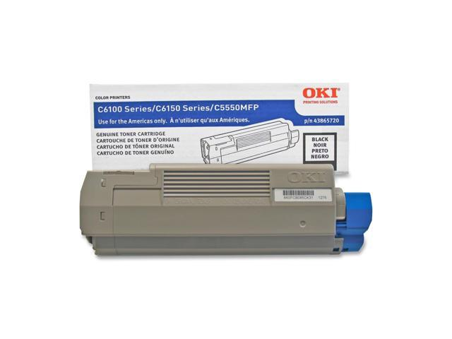 OKI 43865720 Laser Toner Cartridge 8000 page yield; Black