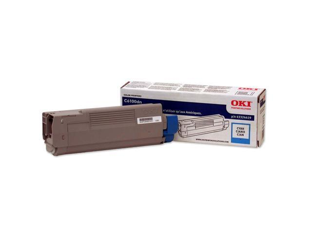 OKI 43324419 Toner Cartridge for C6100; Cyan