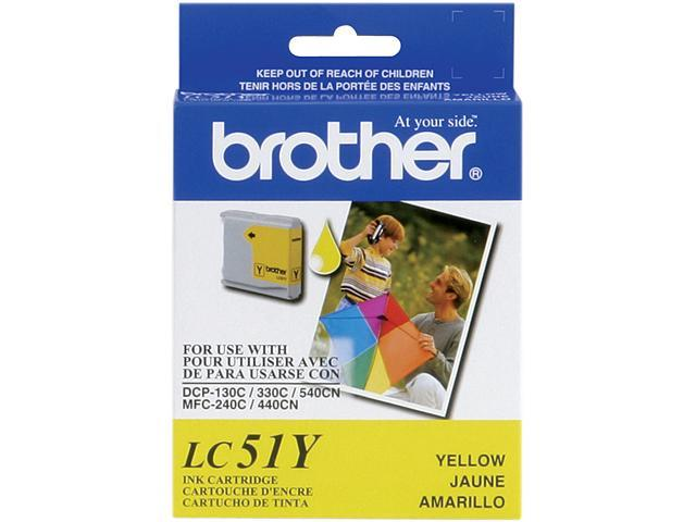 brother LC51Y Print Cartridge For Brother DCP 130C/MFC-240C/MFC-665CW Yellow