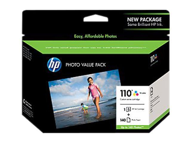 HP 110 Series Tri-color Ink Cartridge with 140 sheet Photo Value Pack (Q8700BN#140)