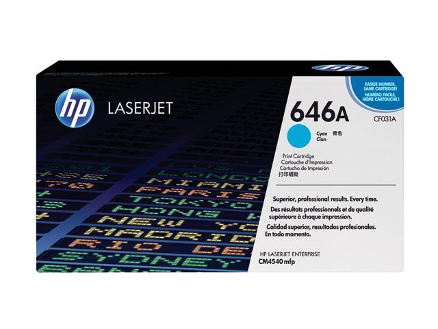 HP 646A Cyan LaserJet Toner Cartridge (CF031A)