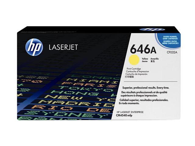HP 646A Yellow LaserJet Toner Cartridge (CF032A)