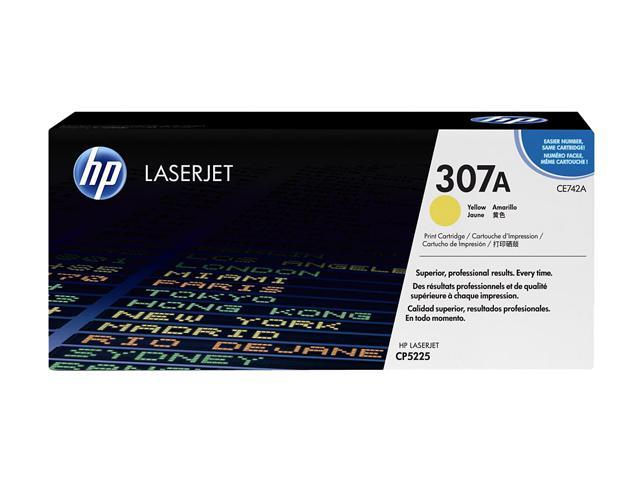 HP 307A Yellow LaserJet Toner Cartridge (CE742A)