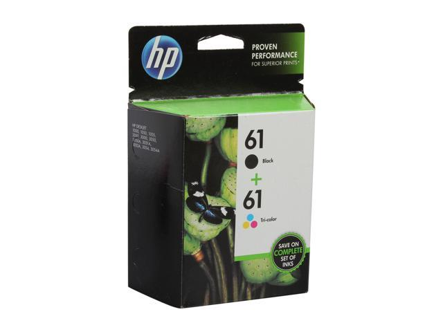 HP 61 Combo-pack Black/Tri-color Ink Cartridges(CR259FN#140)
