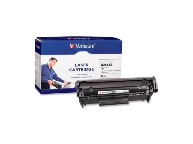 Verbatim 95387 Black Replacement Laser Cartridge For HP Q2612A, Compatible with HP LaserJet 1010, 1012, 1015, 3015, 3020, 3030 Series