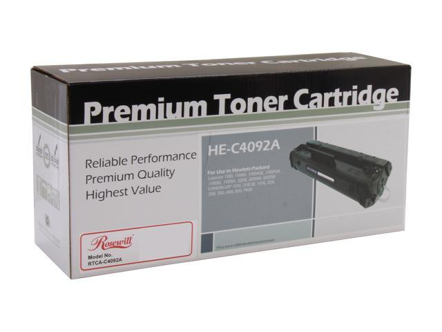 Rosewill RTCA-C4092A Black Toner Replaces HP 92A C4092A