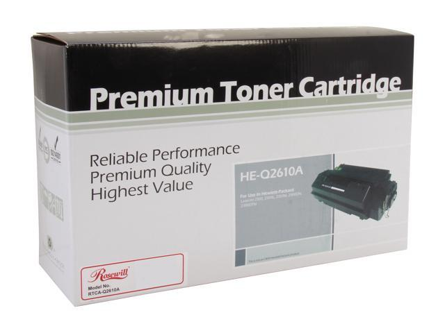 Rosewill RTCA-Q2610A Black Toner Replaces HP 10A Q2610A