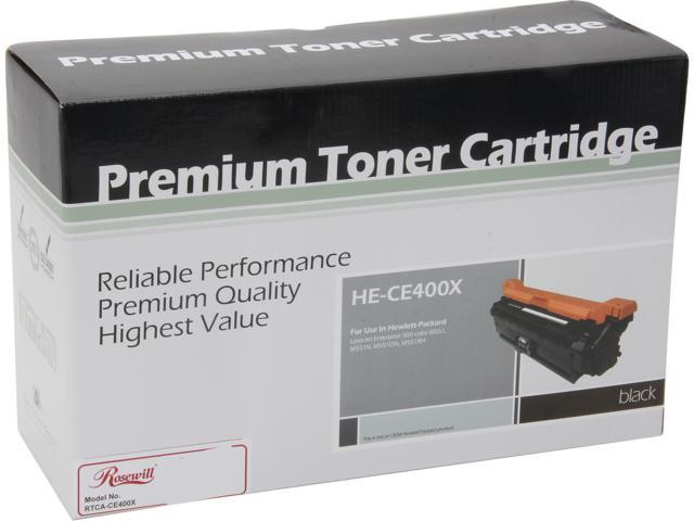 Rosewill RTCA-CE400X High Yield Black Toner Replaces HP 507X CE400X 507A CE400A